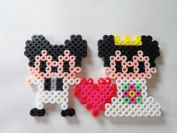 アイロンビーズ ミッキー&ミニー 結婚式(図案サイズ小)